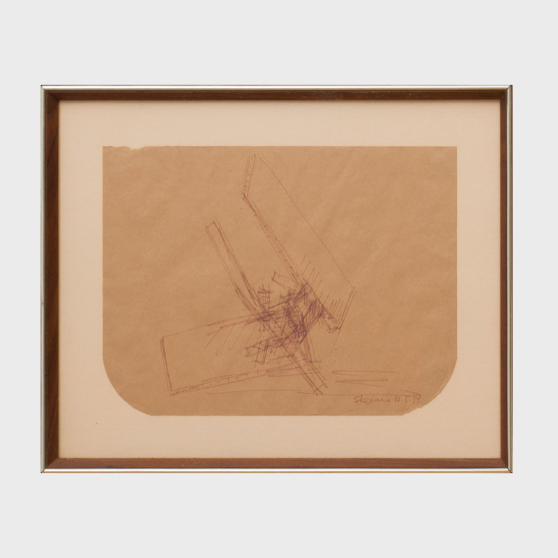 Yehiel Shemi (1922-2003): Untitled (Sculpture Sketch)