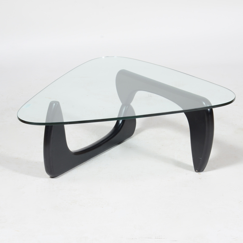 Noguchi Ebonized Wood and Glass Coffee Table