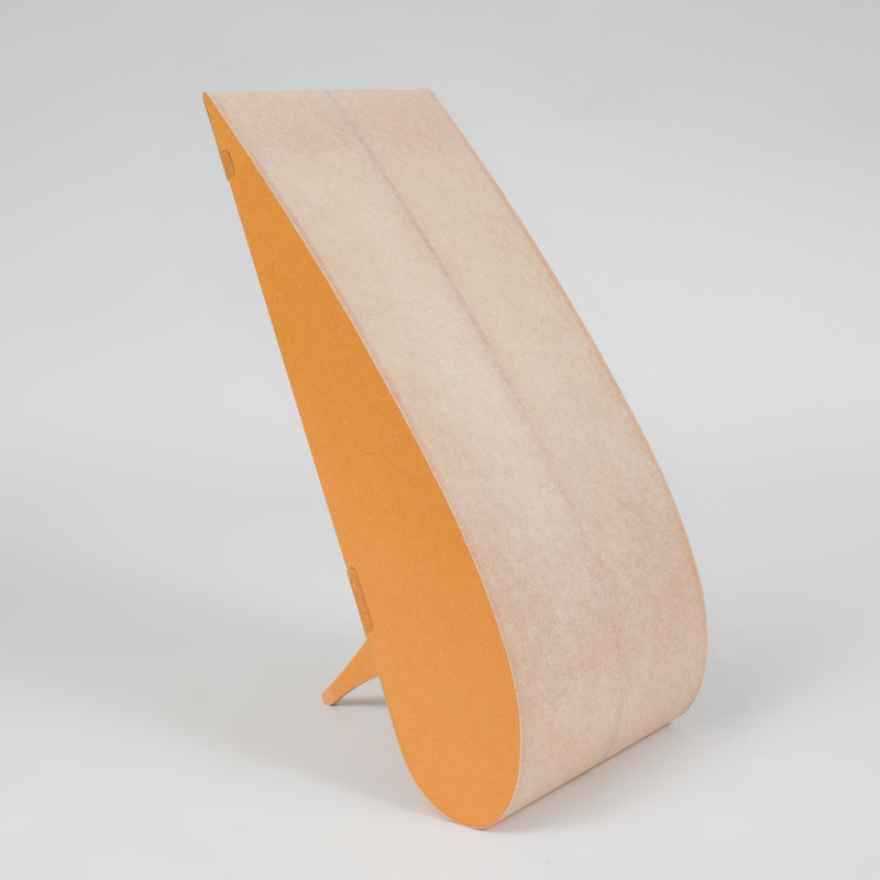 Anish Kapoor MDF and Parchment 'Teardrop' Lamp