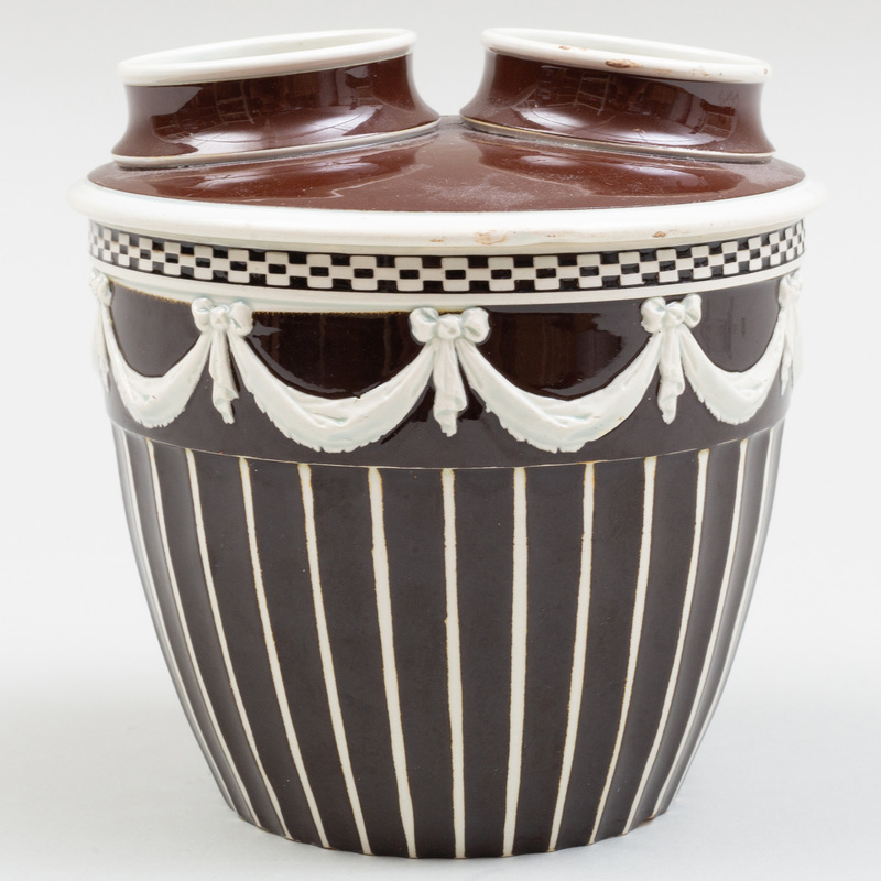 Wedgwood Pearlware Bough Pot and Cover