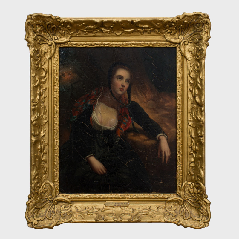 European School: Portrait of a Woman in a Bonnet