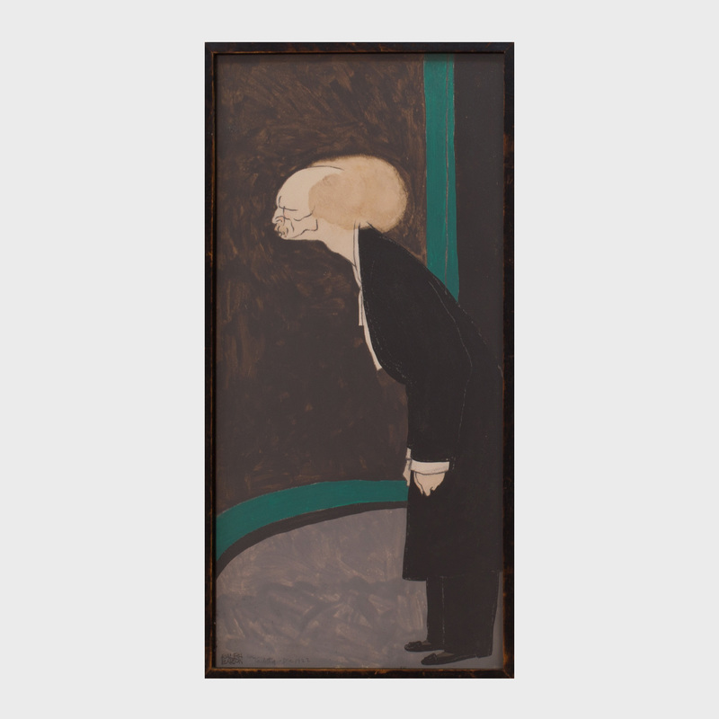 Ralph Barton (1891-1931): Portrait of Ignacy Jan Paderewski
