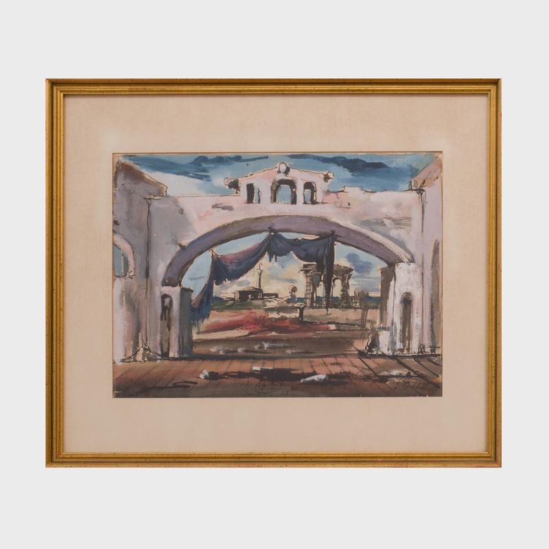 Eugene Berman (1899-1972): Stage Scene: Archway