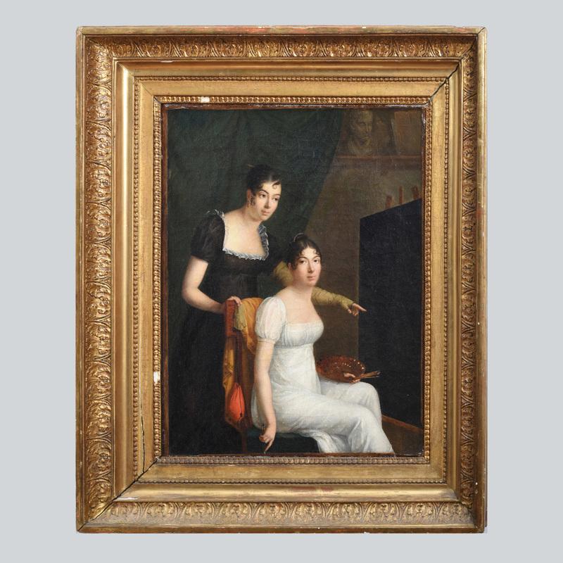 European School:  Two Women Painting