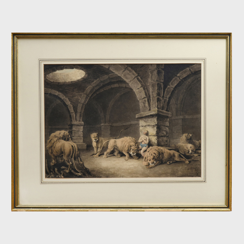 William Samuel Howitt (1765-1822):Daniel in the Lion's Den