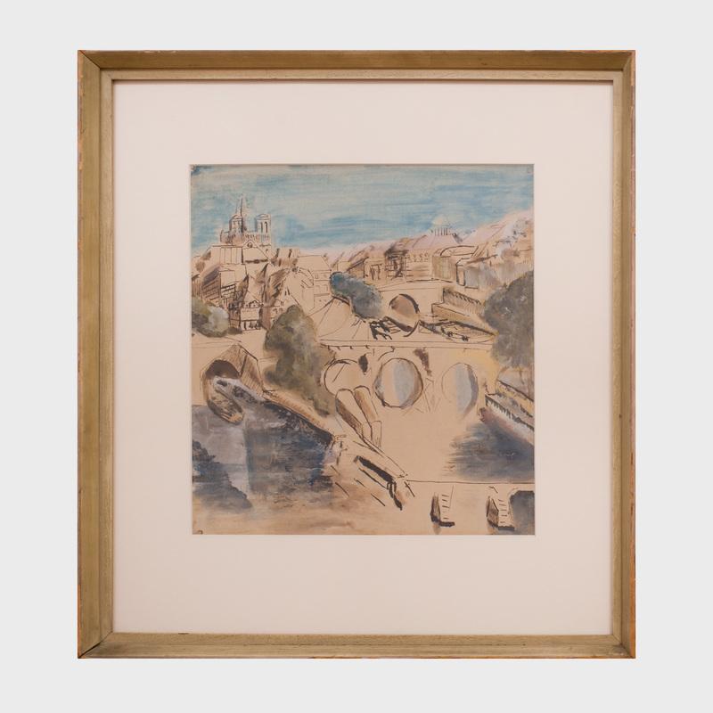 Max Jacob (1876-1944): Notre Dame et le Pont Neuf