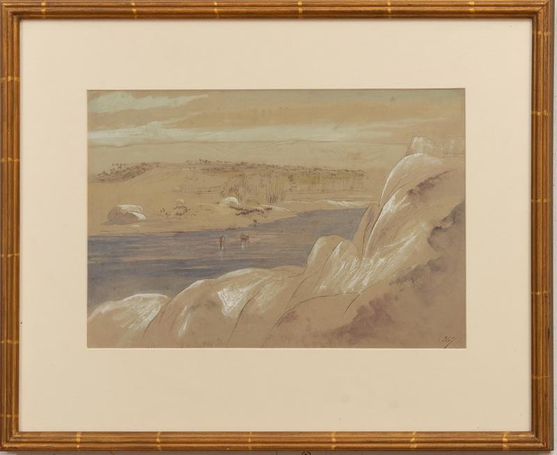 Edward Lear (1812-1888): Asswan, Egypt, 9am January 28, 1867