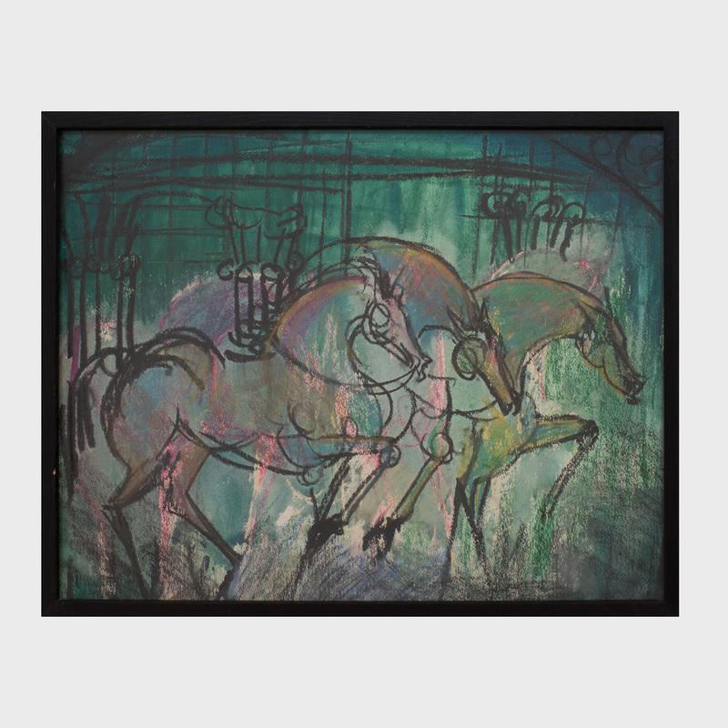Michael Mazur (1935-2009): Horses