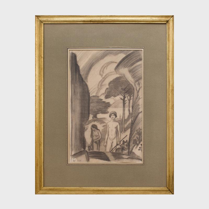 Ludwig von Hofmann (1861-1945): Pastoral Scene