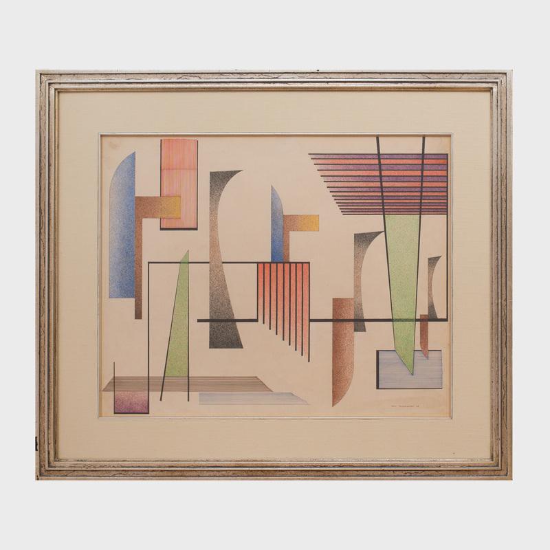 John Sennhauser (1907-1978): Abstract Linear Motifs