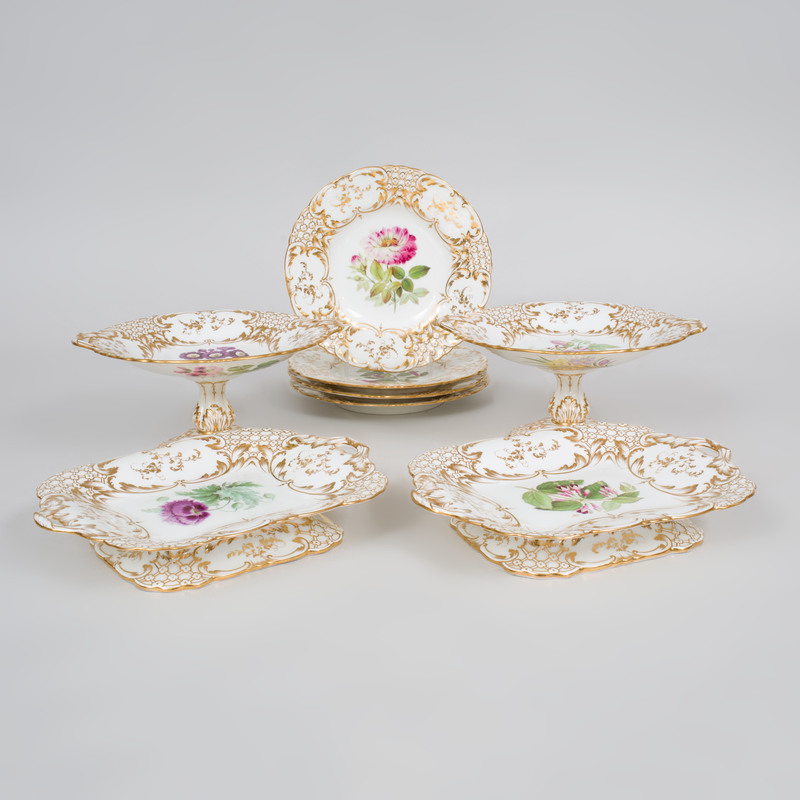Rockingham Porcelain Part Dessert Service