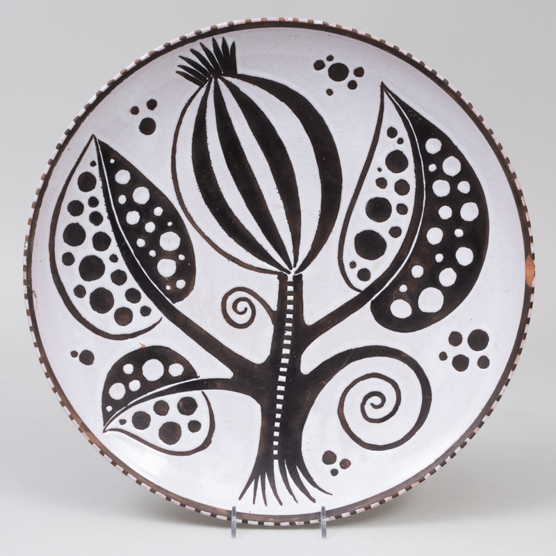 Vienna Anzengruber Earthenware Charger