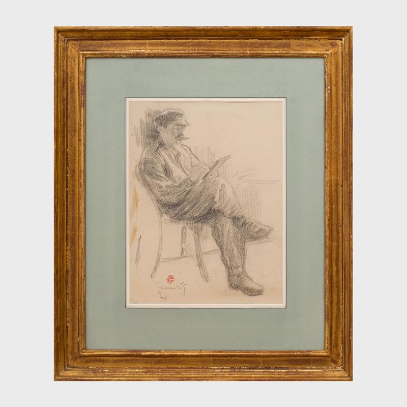 Lucien Ott (1870 - 1927): Portrait of an Artist