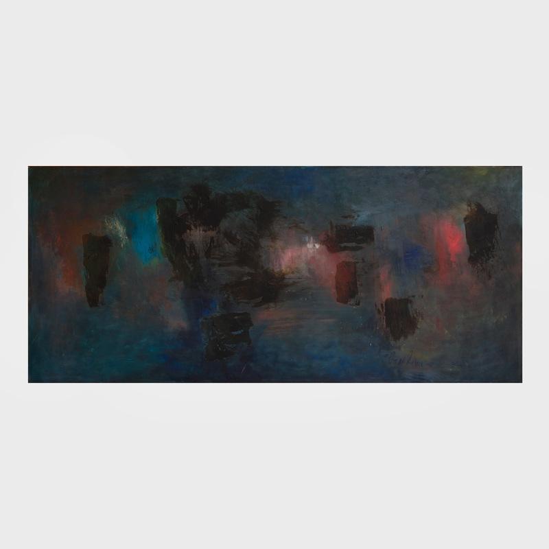 William Gambini: (1918-2010): Long Island Sound Night and Light