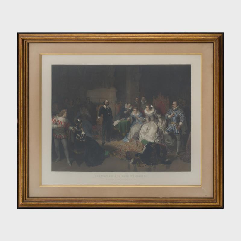 After Eduard Ender (1822-1883): Shakespeare à la Cour d'Elisabeth