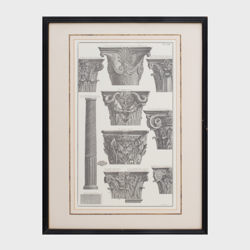 After Giovanni Battista Piranesi (1720-1778): Vases Antique: Seven Plates