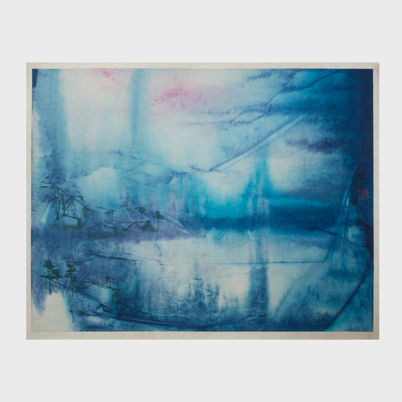 Chen Yi Fei: Blue and Pink Landscape