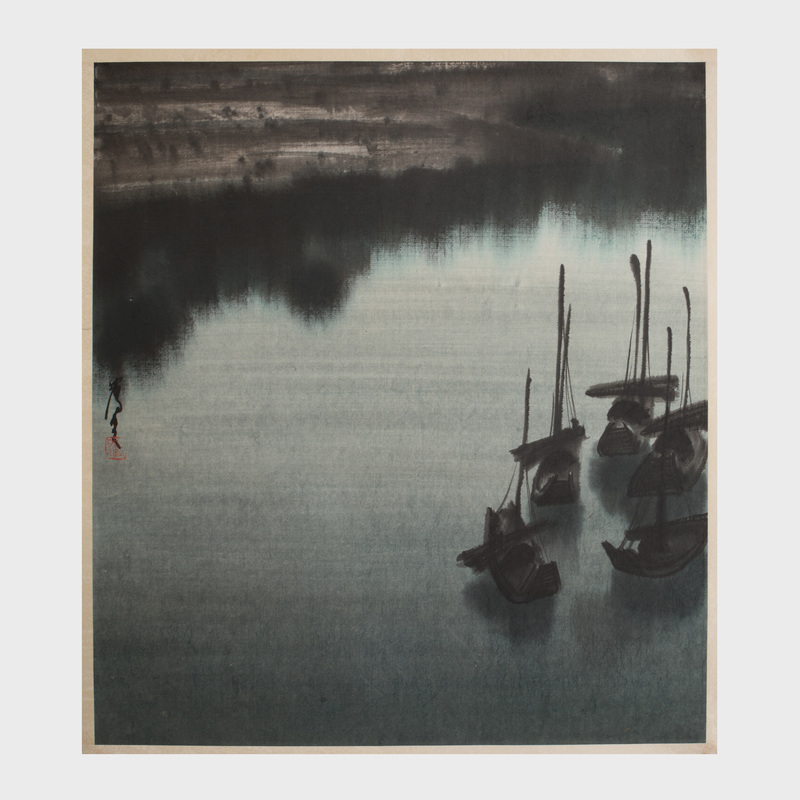 Chen Yi Fei : Boats on the River