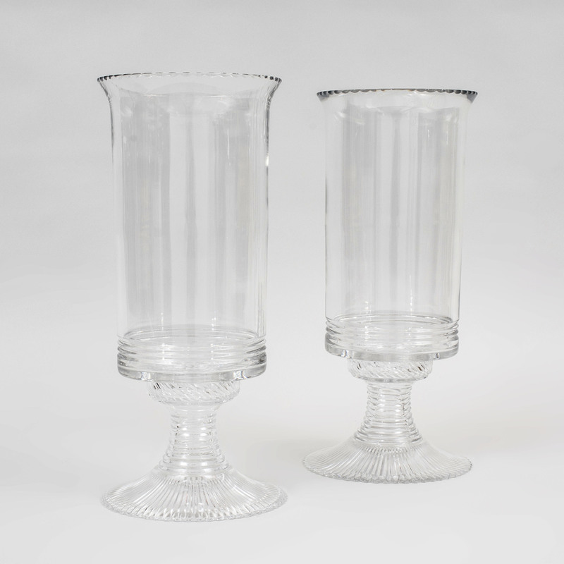 Pair of William Yeoward Cut Glass Photophores