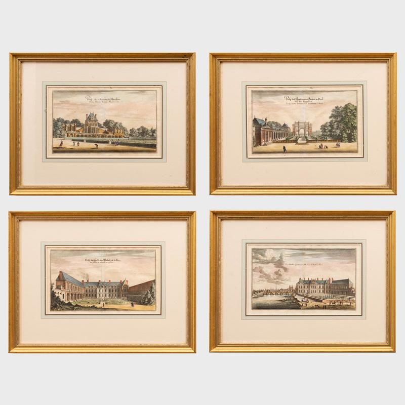 European School: Topographia Gallaie: Four Plates