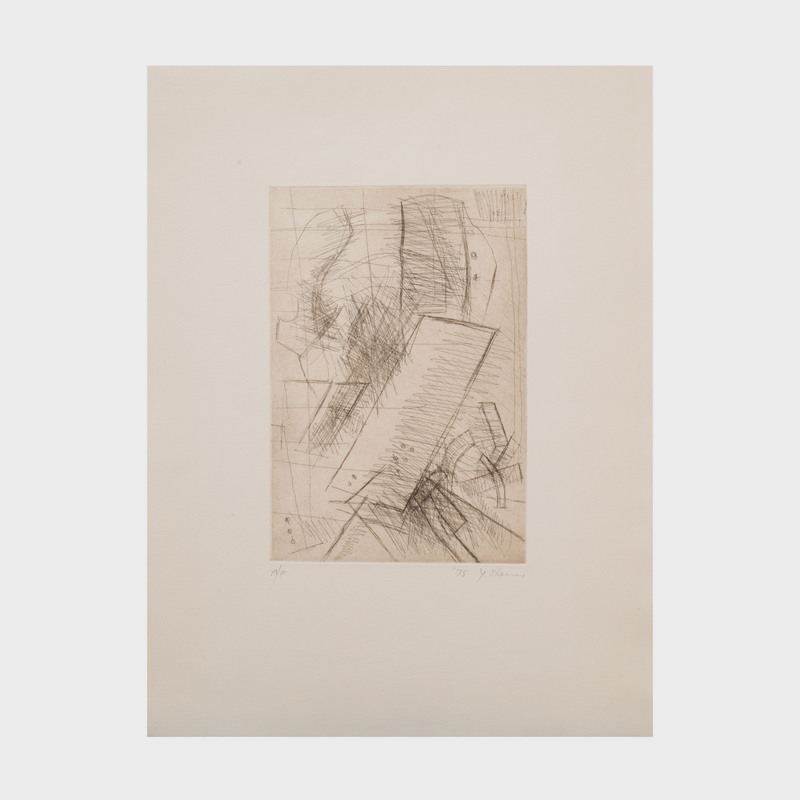 Yehiel Shemi (1922-2003): Untitled: Five Plates