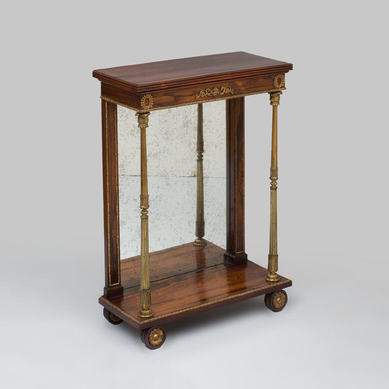 Regency Gilt-Brass-Mounted Rosewood Pier Table, in the Manner of Marsh and Tatham