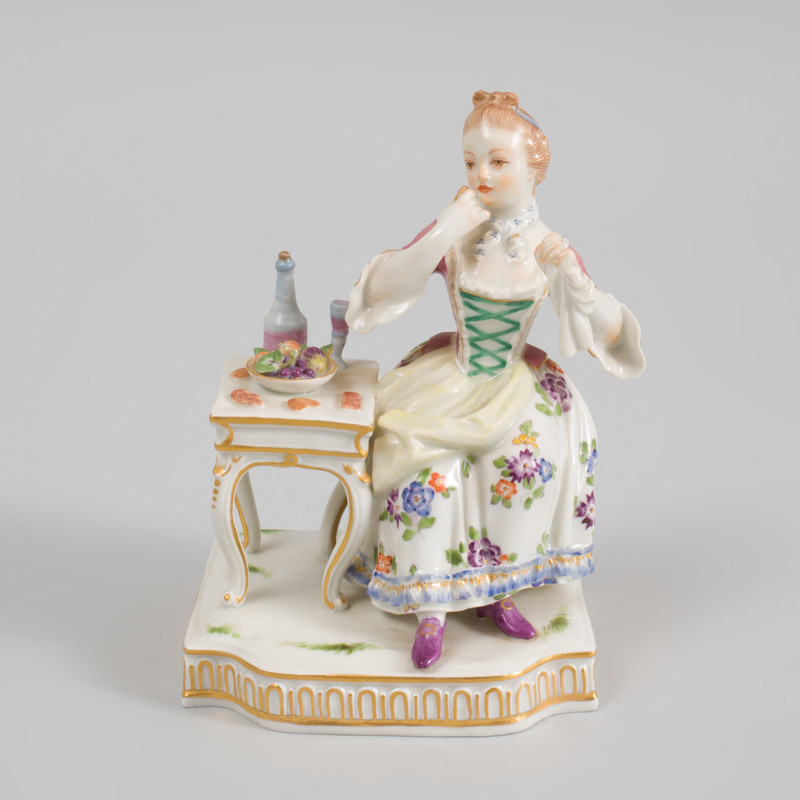 Meissen Porcelain Figure Allegorical of Taste