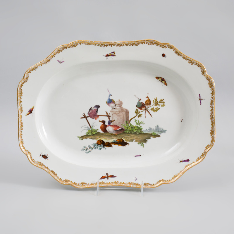 Meissen Porcelain Shaped Rectangular Platter