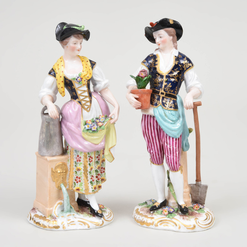 Derby Porcelain Figure of a Gardner and Companion