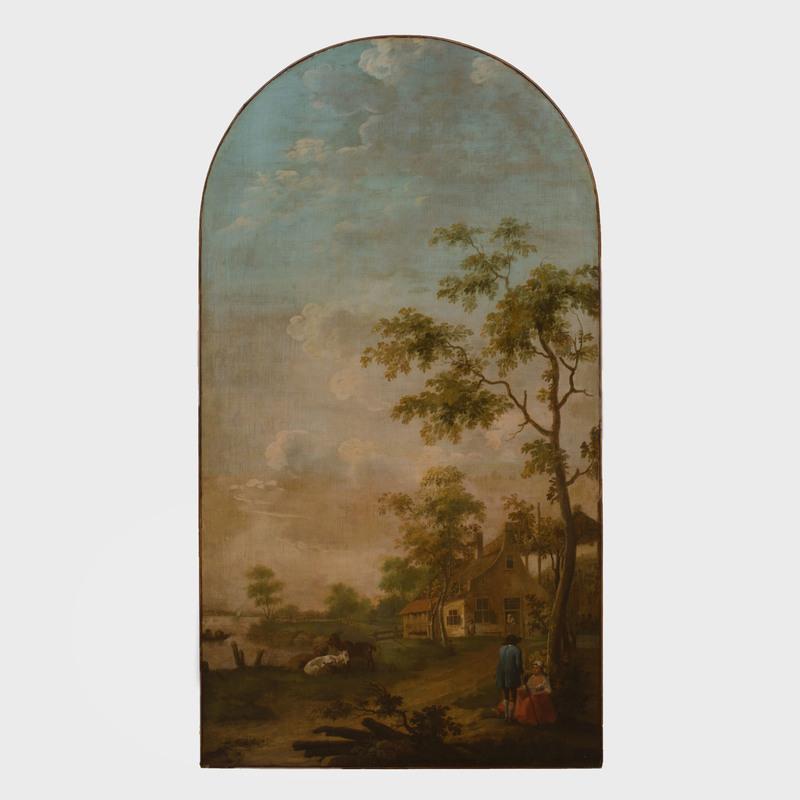 Flemish School:  Pastoral Landscape Panel