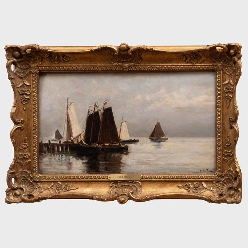 Emile Louis Vernier (1829-1887): Seascape
