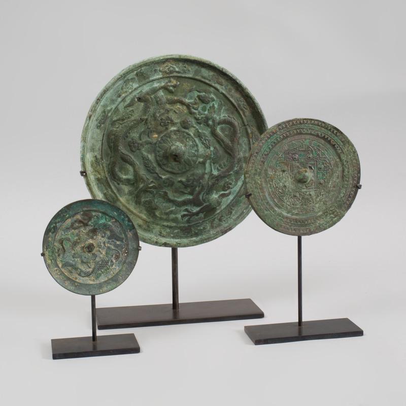 Three Chinese Archaistic Bronze Mirrors