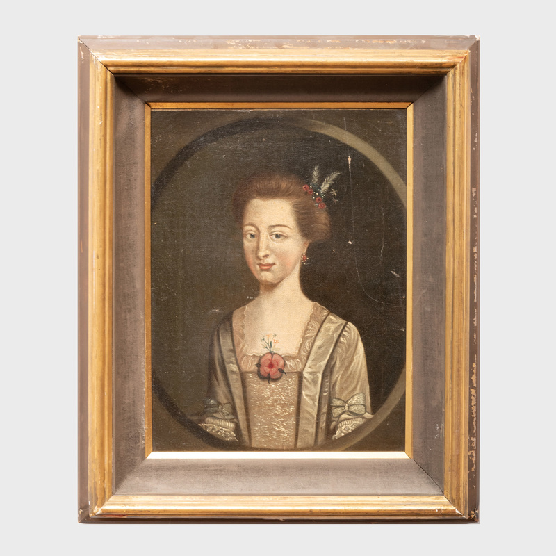 European School: Portrait of a Lady with a Flower Brooch