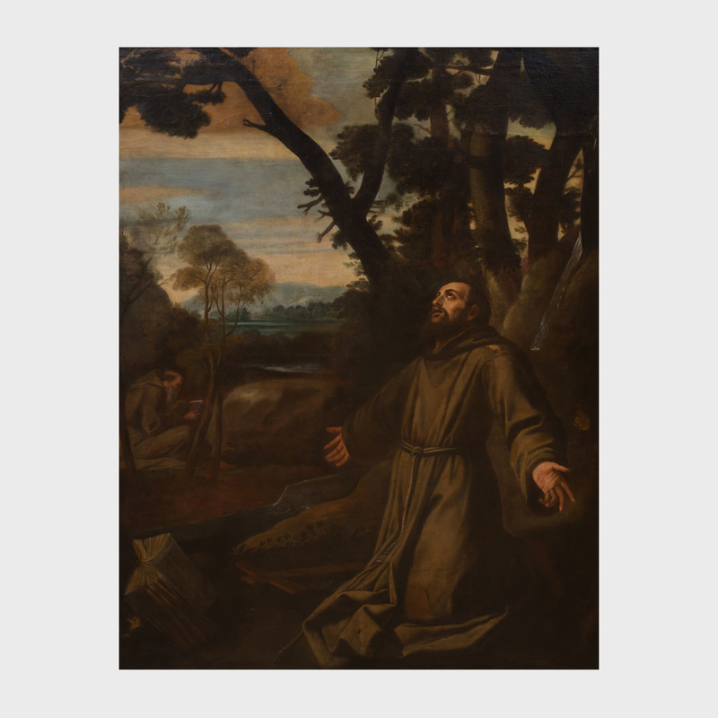 Central Italian School: St. Francis and Brother Leo in Meditation