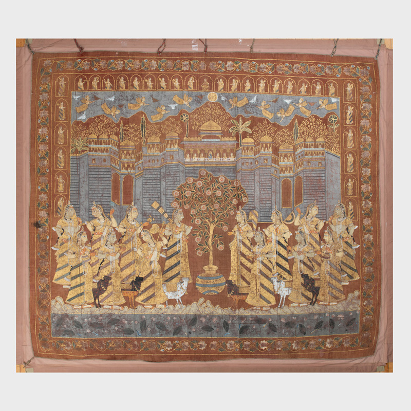 Large Indian Painted Pichhavai,  Possibly Rajastan School