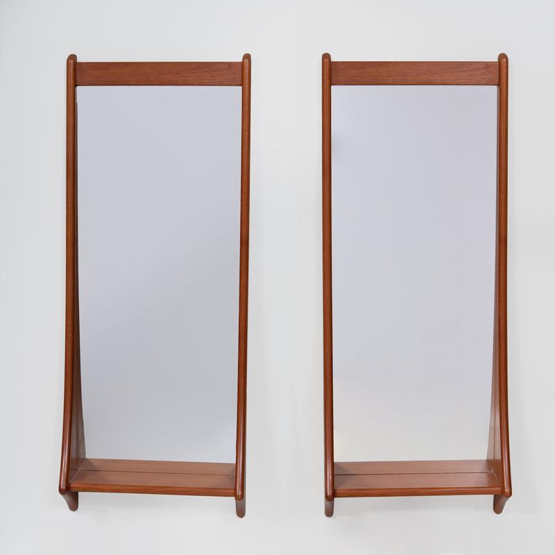 Pair of Pedersen and Hansen Teak Mirrors