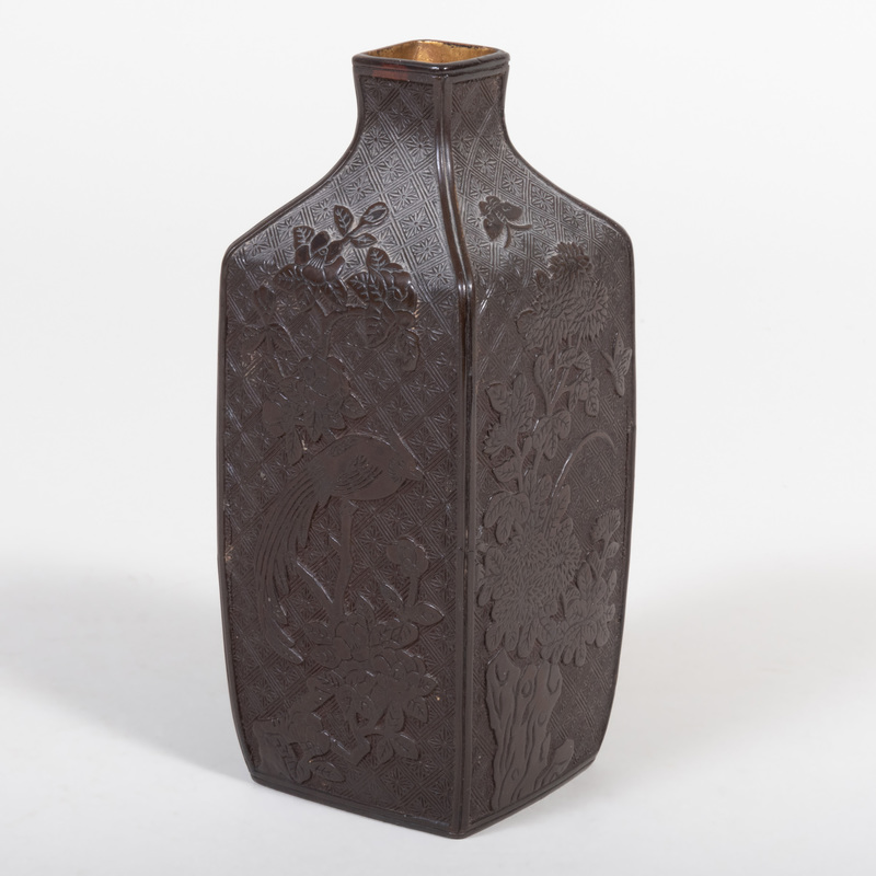 Chinese Lacquer Bottle Vase