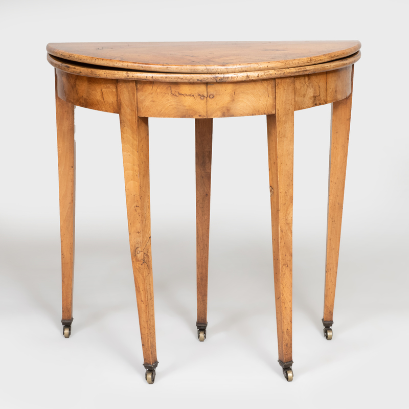 Rustic Fruitwood Drop Leaf Games Table