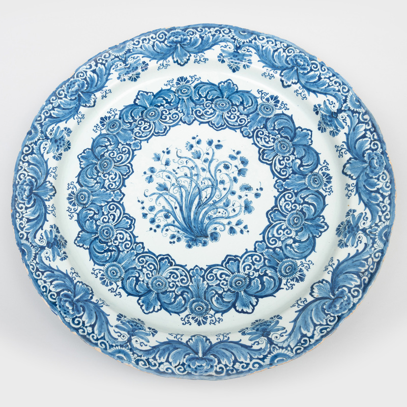 Large Dutch Delft Blue and White Charger