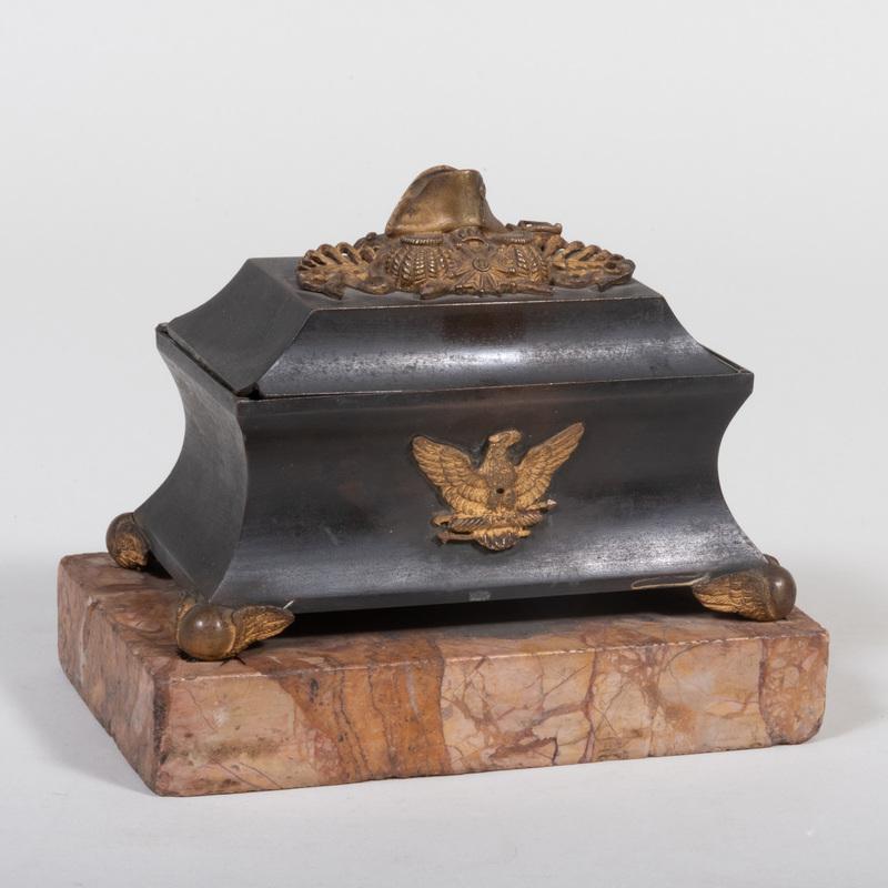 Napoleonic Parcel-Gilt-Bronze Inkwell