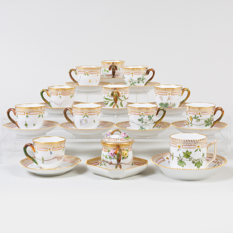 Group of Royal Copenhagen Porcelain 'Flora Danica' Wares