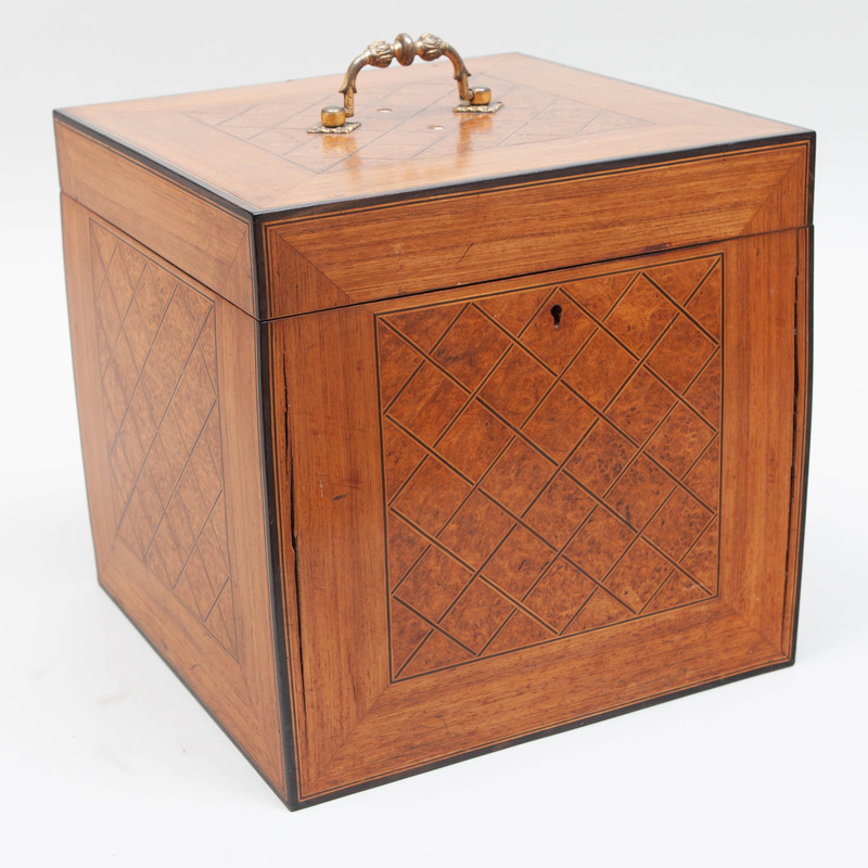 George III Style Parquetry Decanter Box