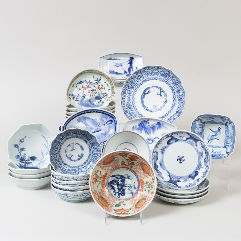 Group of Japanese Porcelain and Blue and White Wares