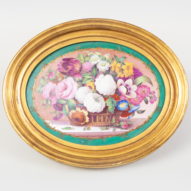 Derby Porcelain Plaque Decorated with a Still Life