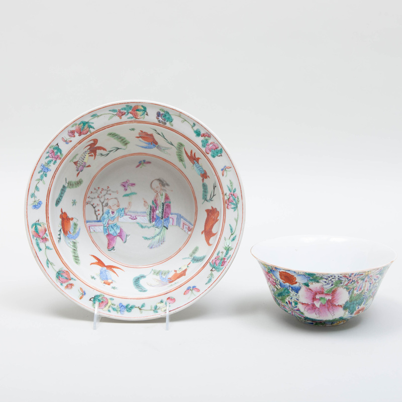 Two Chinese Export Porcelain Bowls