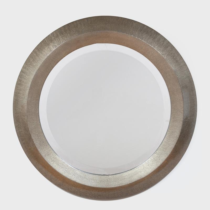 Karl Springer Style Circular Lacquer Mirror