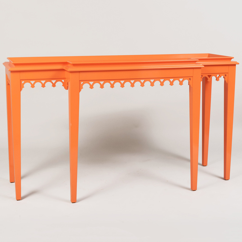 Orange Lacquer Console, of Recent Manufacture
