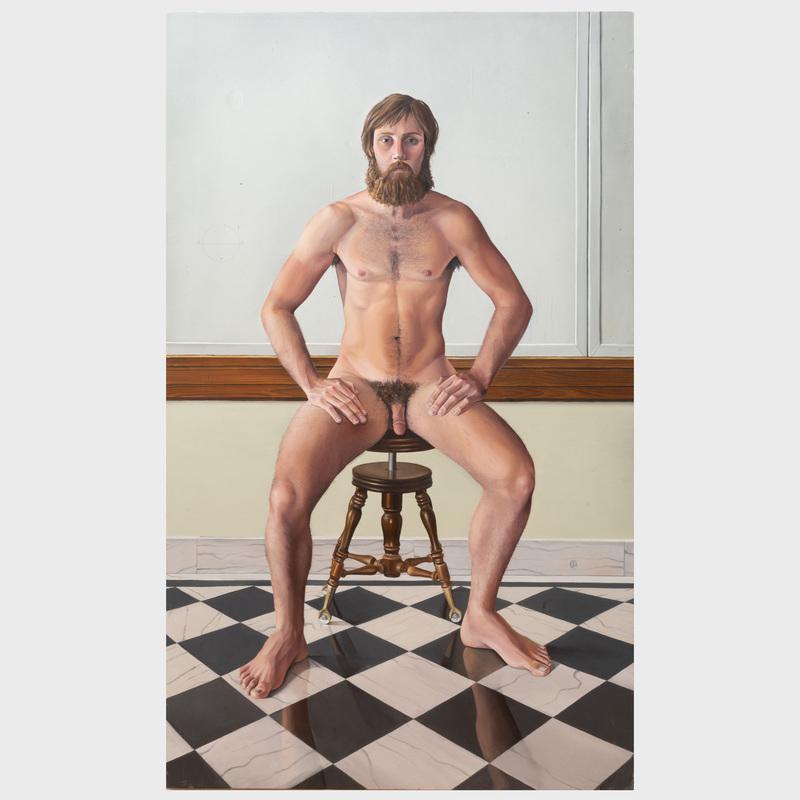 James P. Aponovich (b. 1948): Seated Nude