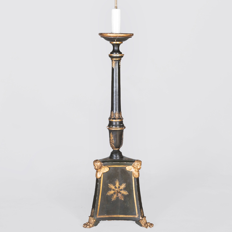 Italian Neoclassical Style Painted Torchère Floor Lamp