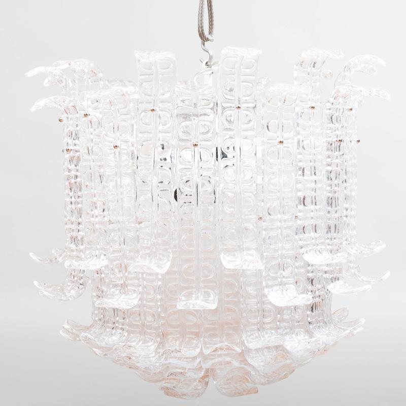 Clear Murano Glass 'Ricci' Chandelier